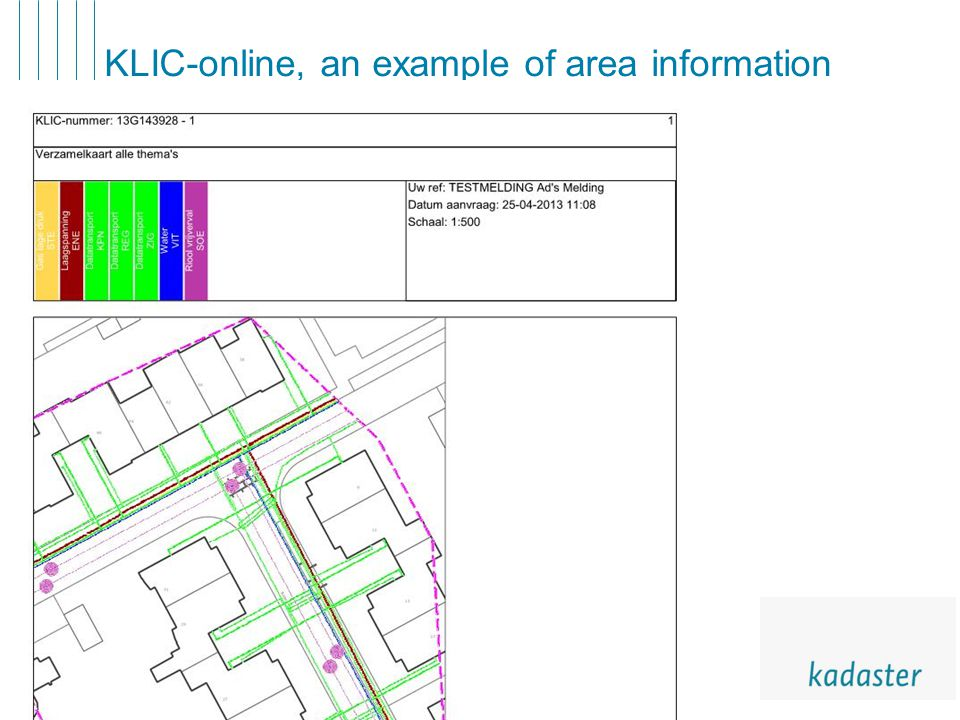 7 KLIC-online, an example of area information