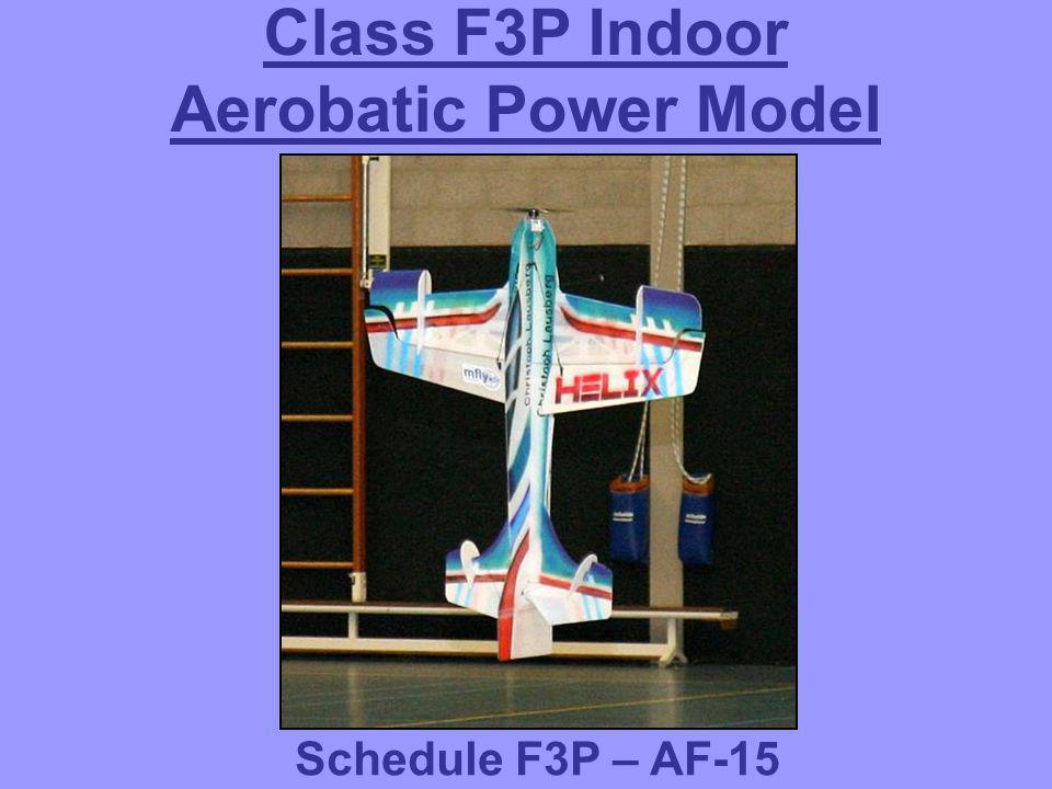 Class F3P Indoor Aerobatic Power Model aIRCRafts Schedule F3P – AF-15