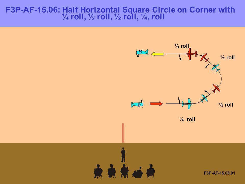 F3P-AF-15.06: Half Horizontal Square Circle on Corner with ¼ roll, ½ roll, ½ roll, ¼, roll F3P-AF-15.06.01 ¼ roll ½ roll