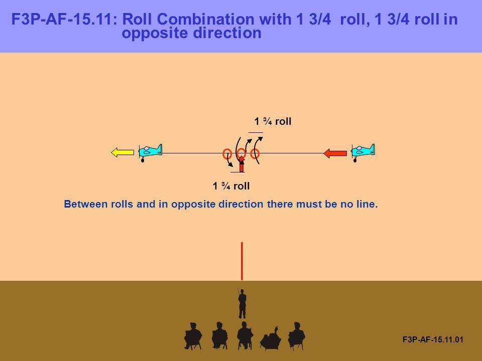 F3P-AF-15.11.01 F3P-AF-15.11: Roll Combination with 1 3/4 roll, 1 3/4 roll in opposite direction Between rolls and in opposite direction there must be