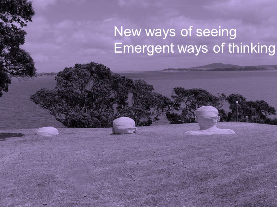 New ways of seeing Emergent ways of thinking