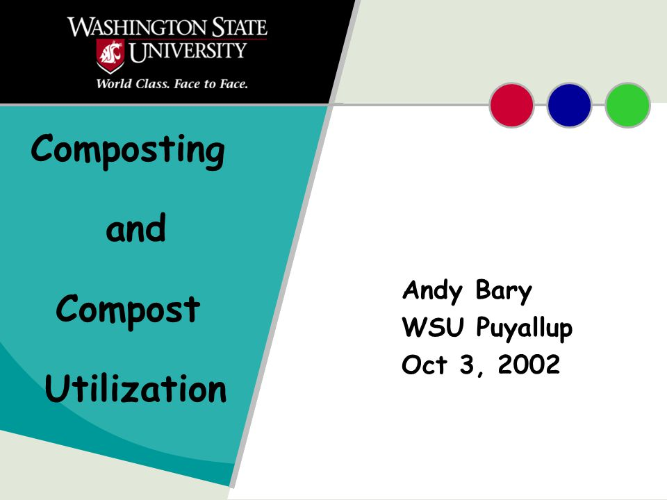 Composting and Compost Utilization Andy Bary WSU Puyallup Oct 3, 2002