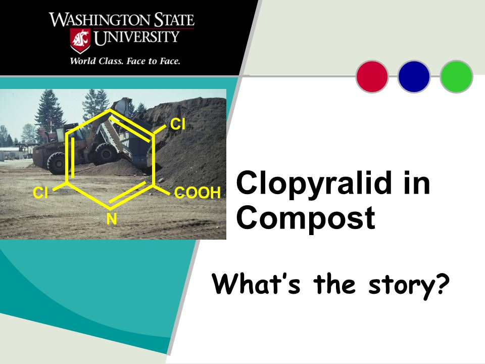 Clopyralid in Compost What's the story? N Cl COOH
