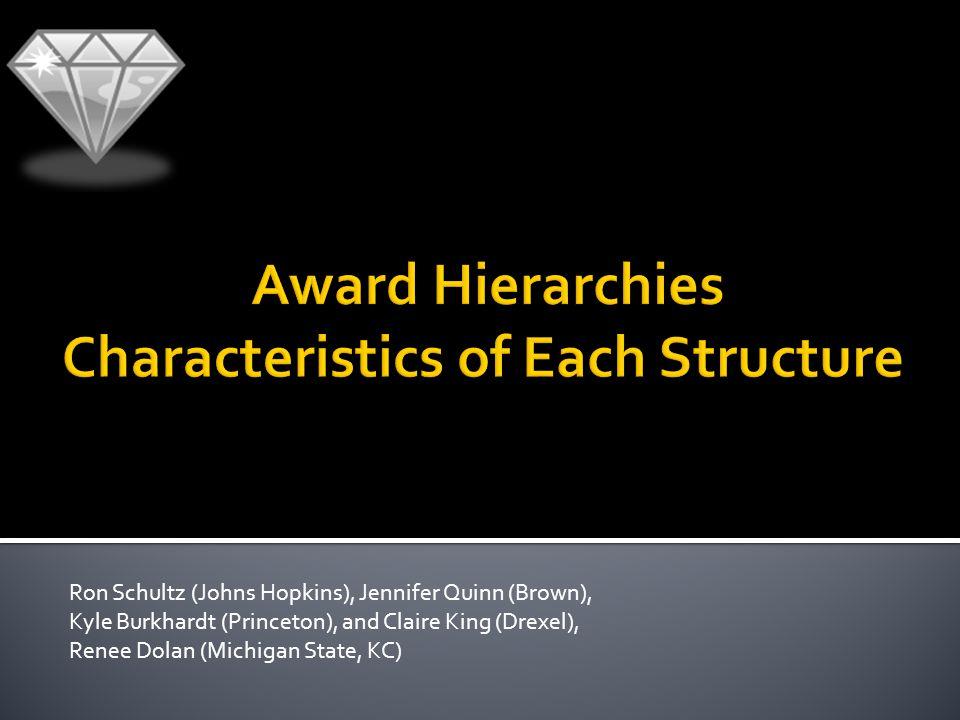 Ron Schultz (Johns Hopkins), Jennifer Quinn (Brown), Kyle Burkhardt (Princeton), and Claire King (Drexel), Renee Dolan (Michigan State, KC)