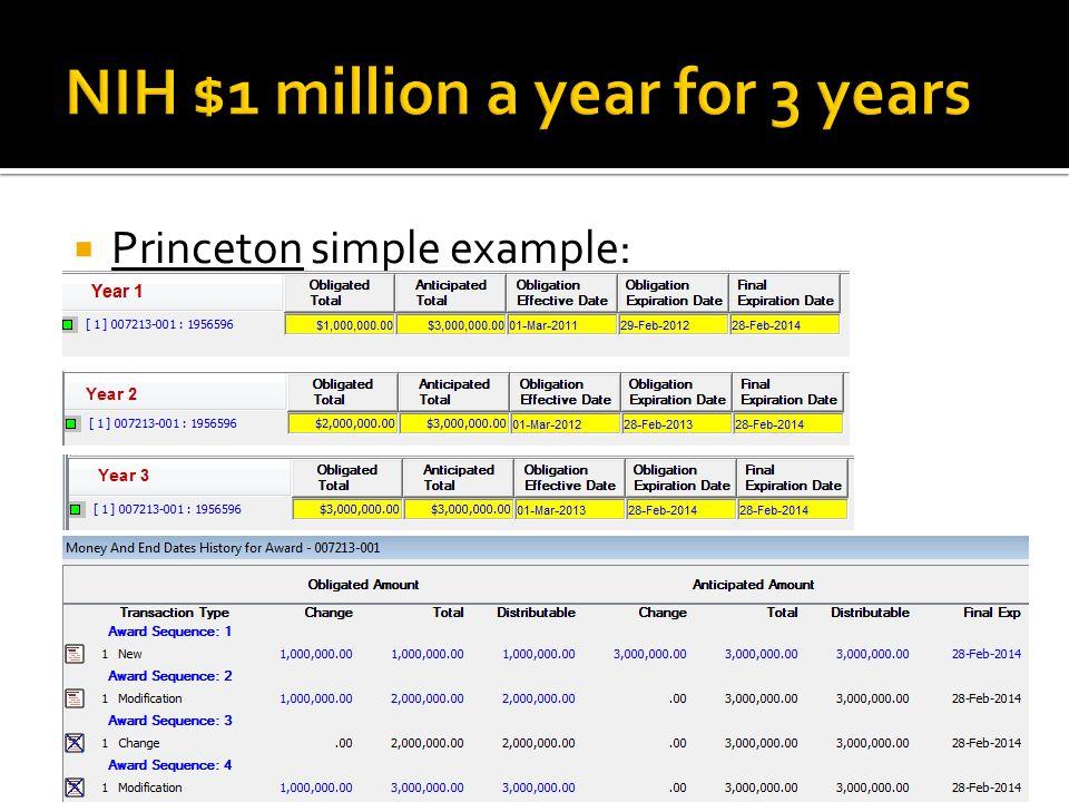  Princeton simple example: