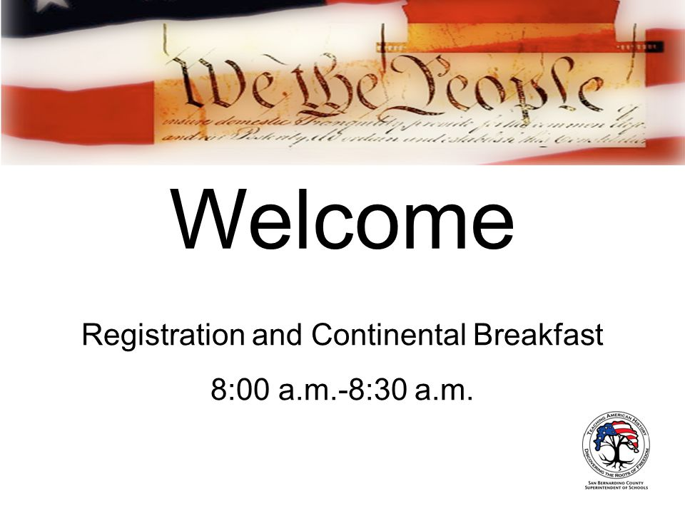 Welcome Registration and Continental Breakfast 8:00 a.m.-8:30 a.m.