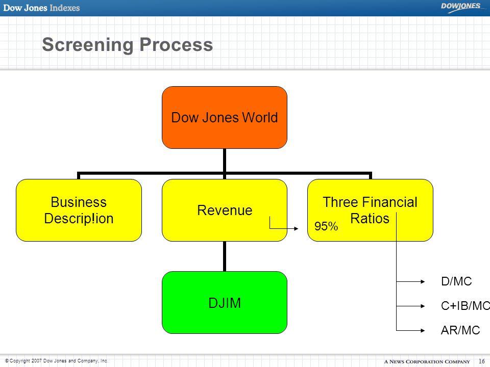 © Copyright 2007 Dow Jones and Company, Inc.