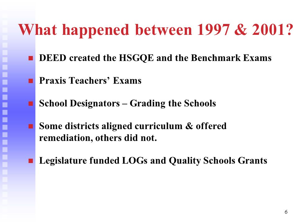 27 Why Must the HSGQE Remain a High Stakes Test.Public confidence in our schools.