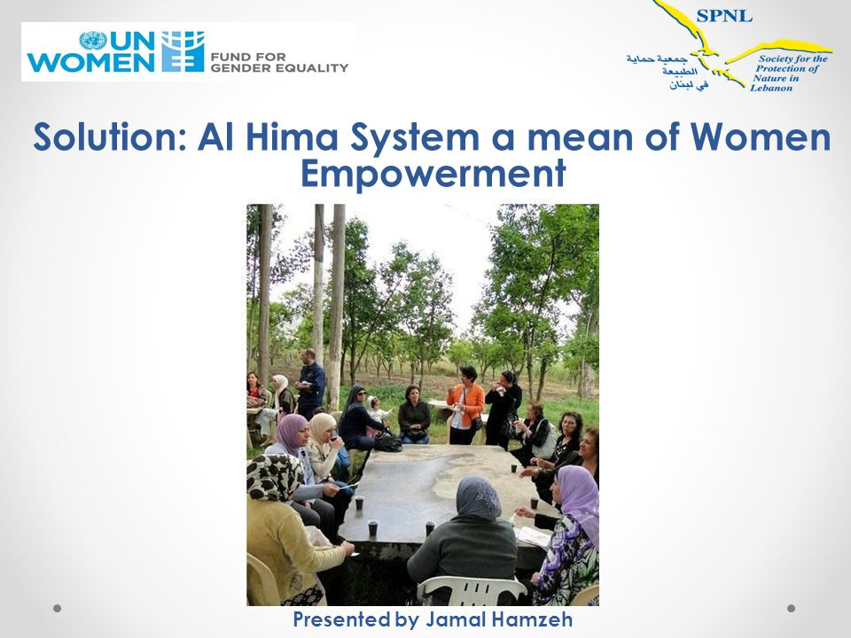 Role of International Actors Adopting the Hima concept in their strategies Funding the solution to be adopted in other countries Supporting in expertise, knowledge, and success stories exchange