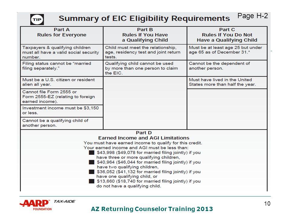 10 AZ Returning Counselor Training 2013 Page H-2