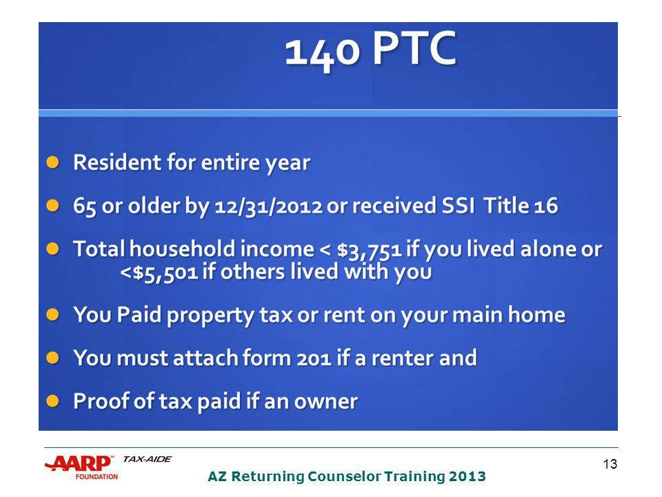 13 AZ Returning Counselor Training 2013