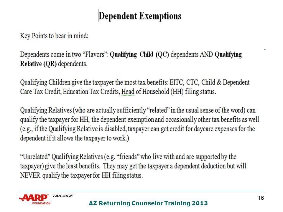 16 AZ Returning Counselor Training 2013