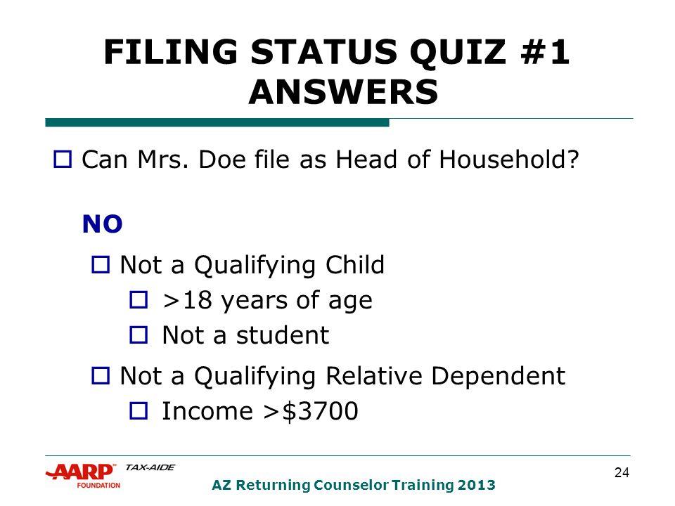 24 AZ Returning Counselor Training 2013  Can Mrs.