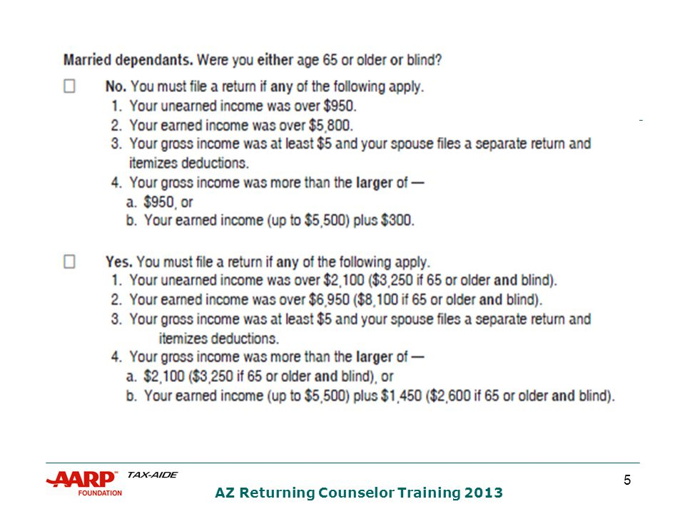 26 AZ Returning Counselor Training 2013  What is the best filing status for Mr.