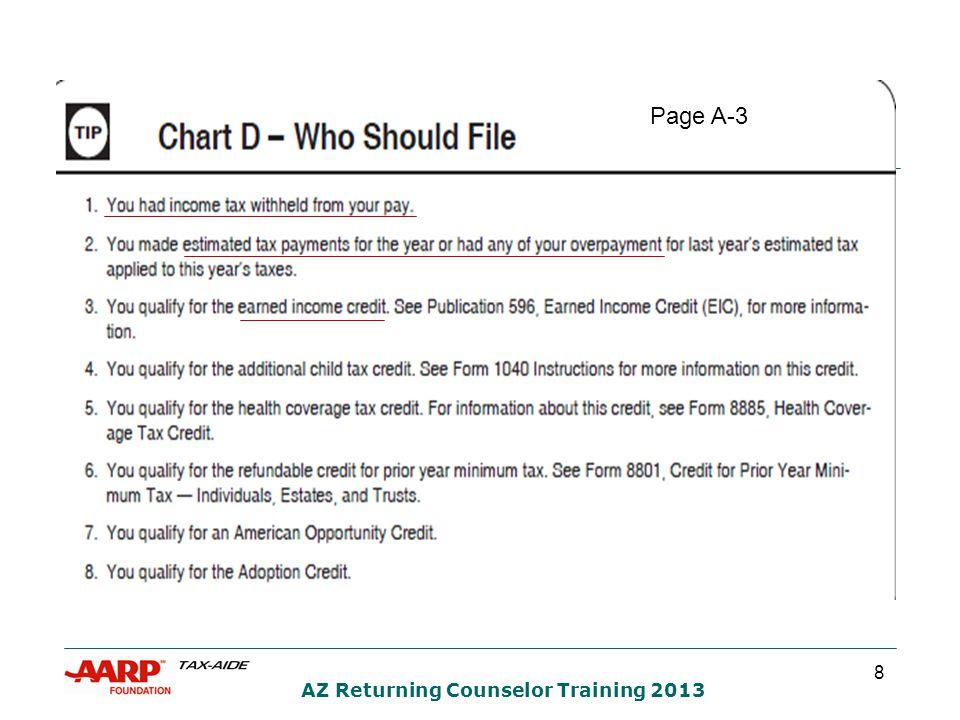 19 AZ Returning Counselor Training 2013 Page B-1