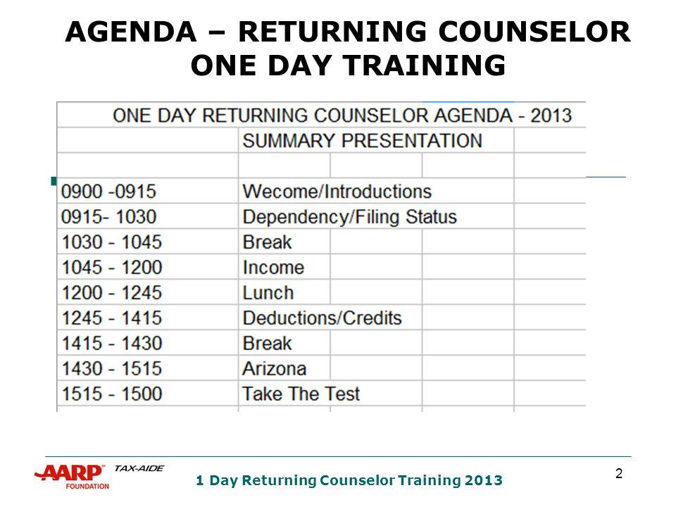23 AZ Returning Counselor Training 2013