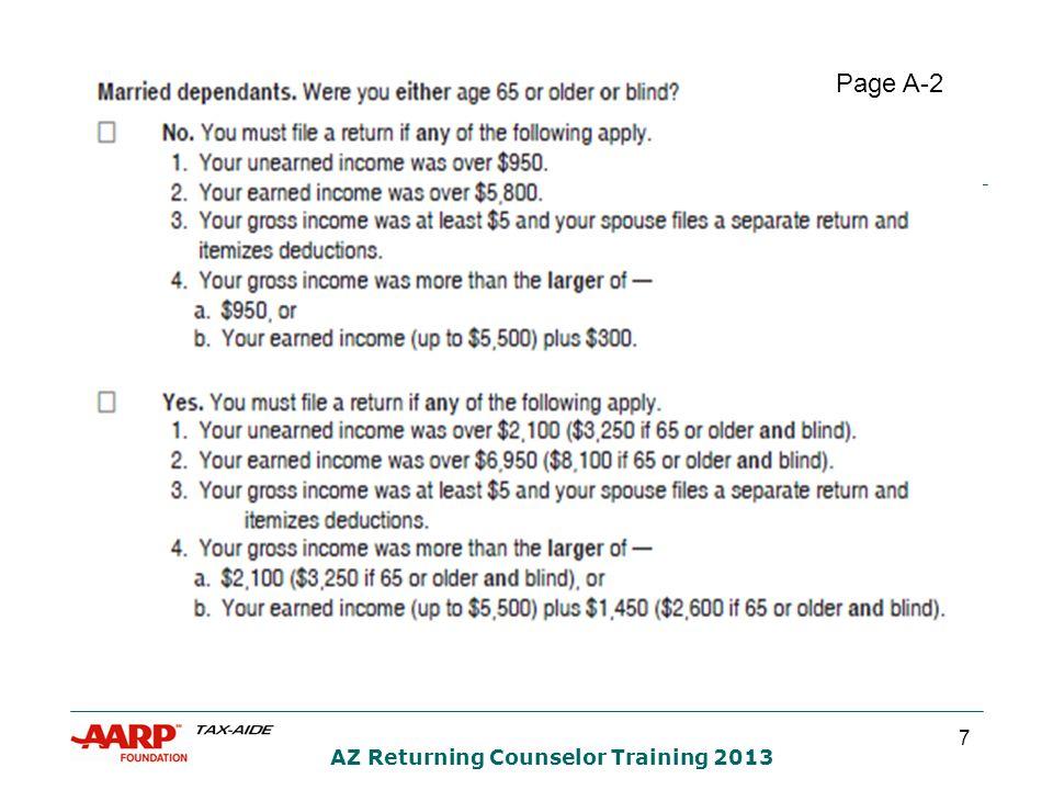 8 AZ Returning Counselor Training 2013 Page A-3