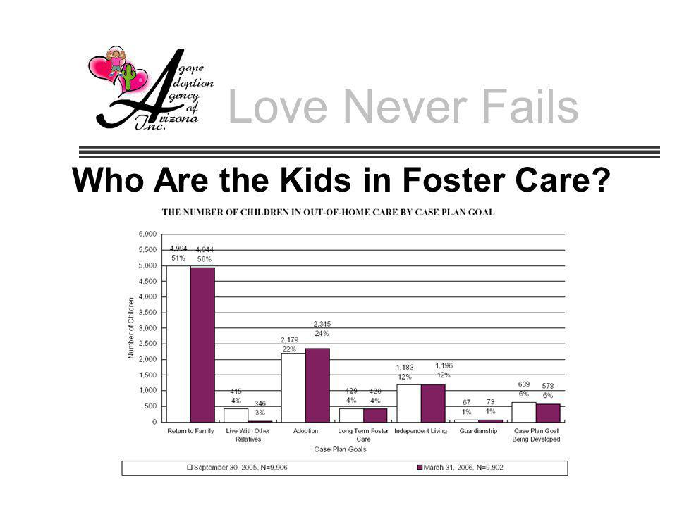 Love Never Fails Who Are the Kids in Foster Care?
