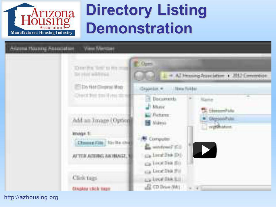 Directory Listing Demonstration http://azhousing.org