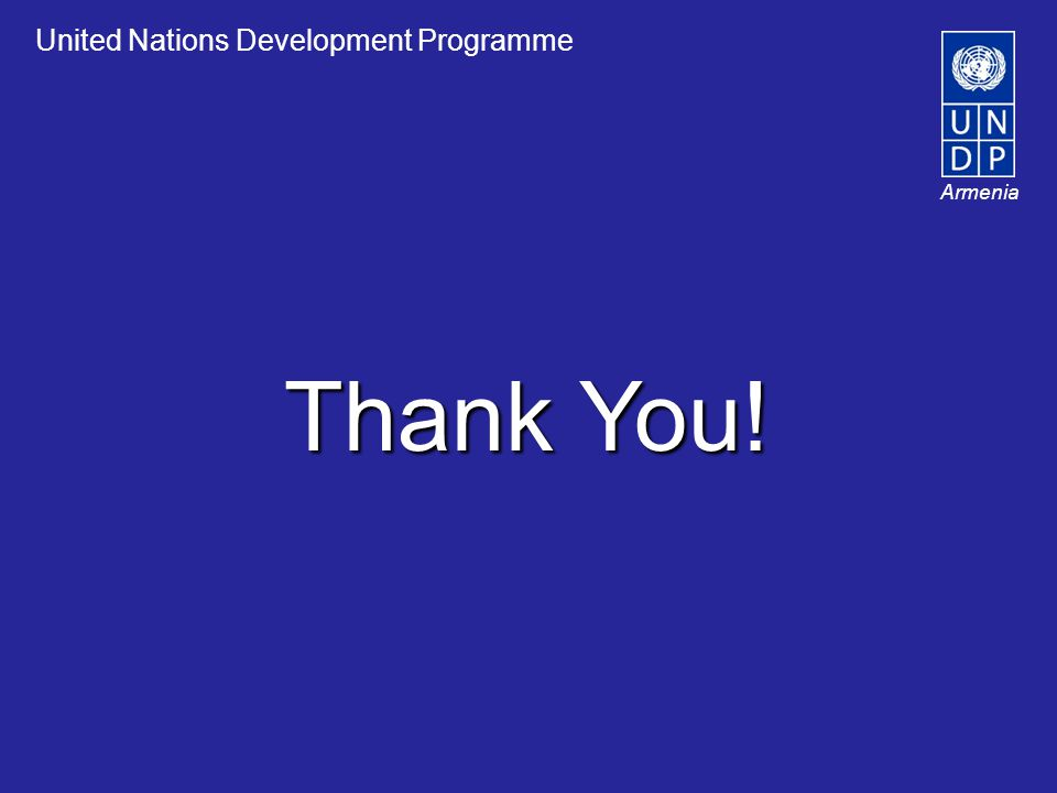 Thank You! United Nations Development Programme Armenia