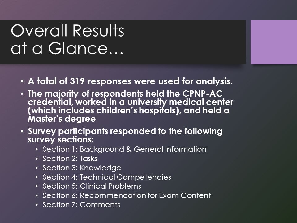 How the 2013-14 Study Impacts the Exam: Summary Majority of content areas from 2009 content outline remain valid.