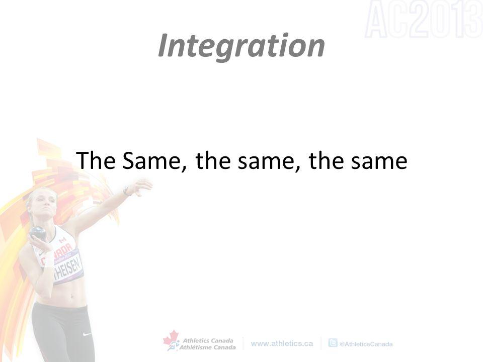 Integration The Same, the same, the same