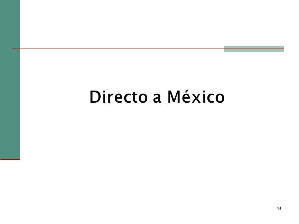 14 Directo a México
