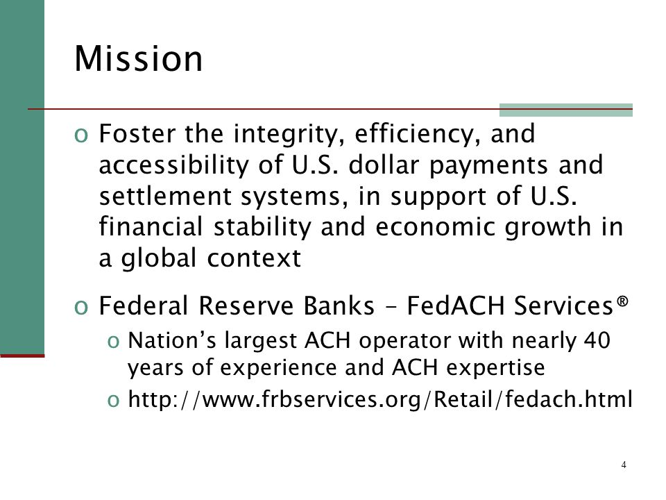 4 Mission oFoster the integrity, efficiency, and accessibility of U.S.