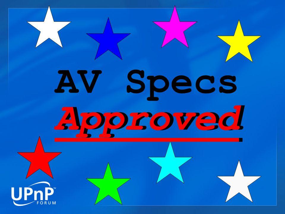 Approved AV Specs Approved