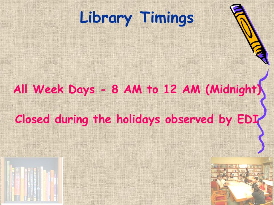 Library Staff B Ganapathi Umesh Mehta Hema Rawal Ashok Madnani Ashok Chaudhary Dinesh Kumar