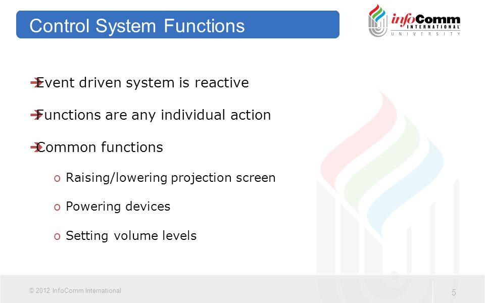 36 © 2012 InfoComm International Part Three Signal Management Systems