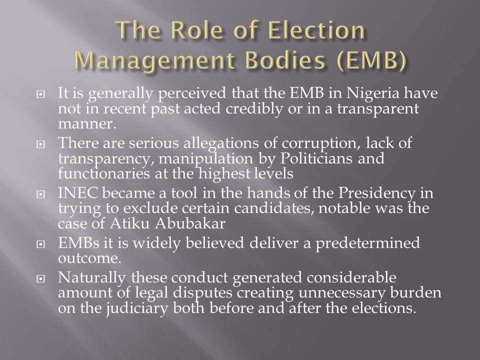  How do we ensure that the necessary safeguards are in place to enhance the values, norms and principles that govern the activities and functions of the EMBs.