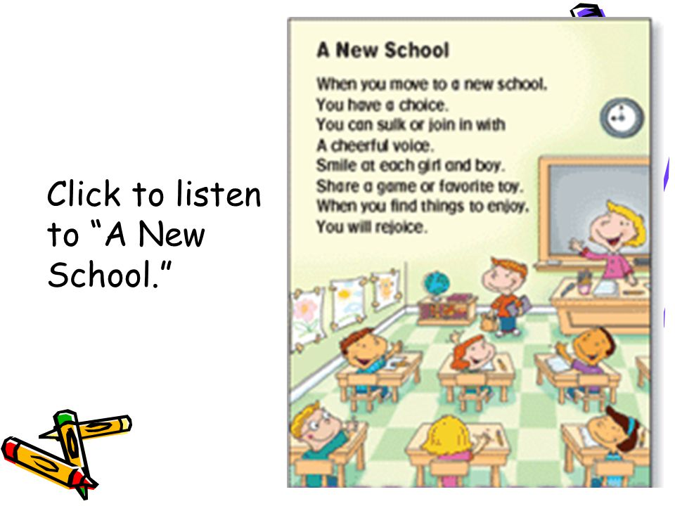 Click to listen to A New School.