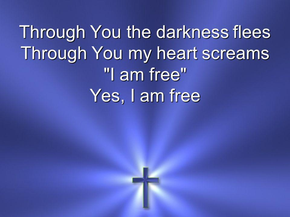 Through You the darkness flees Through You my heart screams I am free Yes, I am free