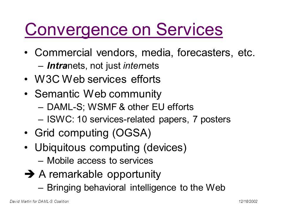 David Martin for DAML-S Coalition 12/18/2002 What is DAML.