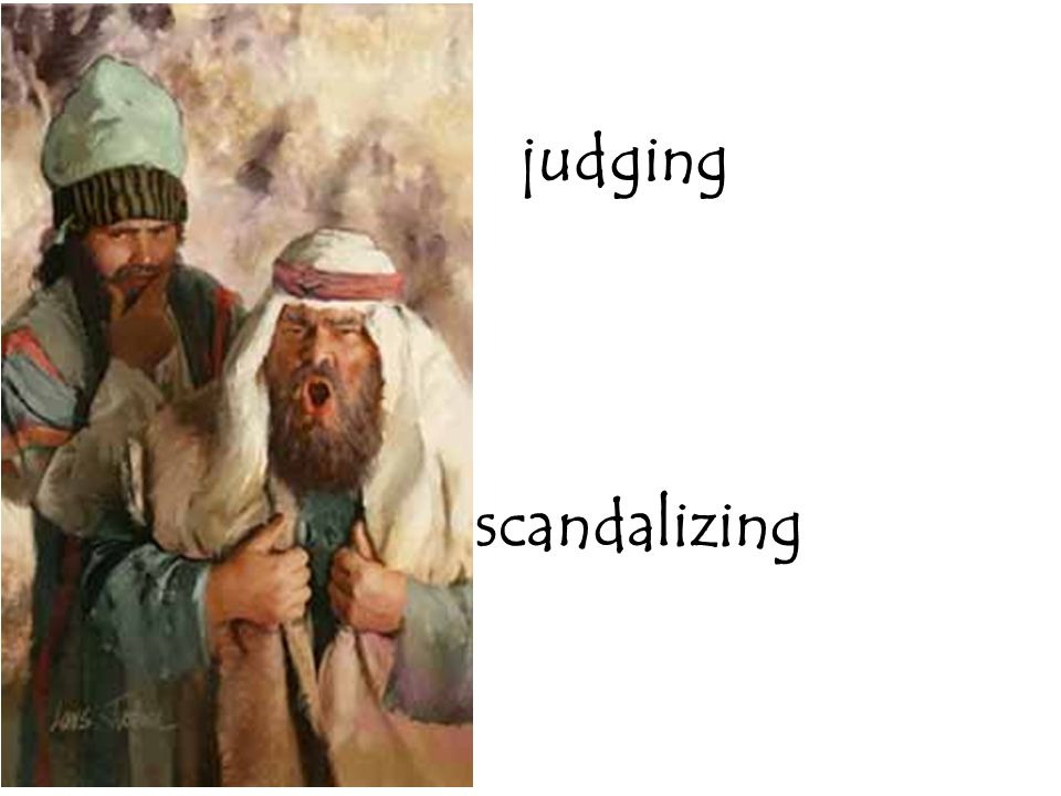 judging scandalizing