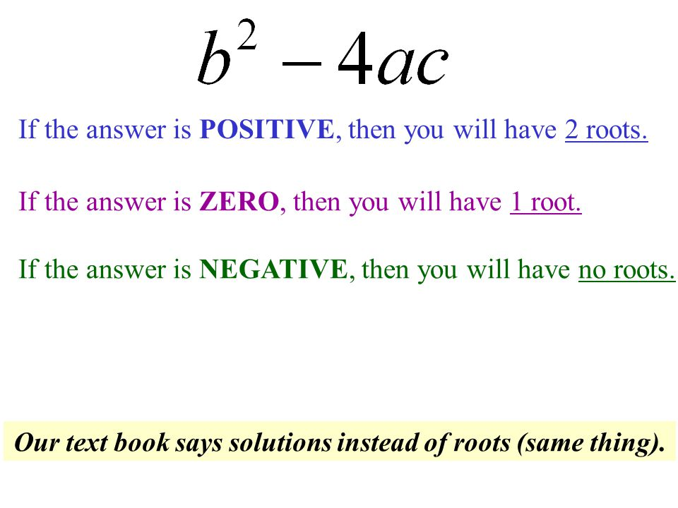 There is a way to tell how many roots an equation will have.