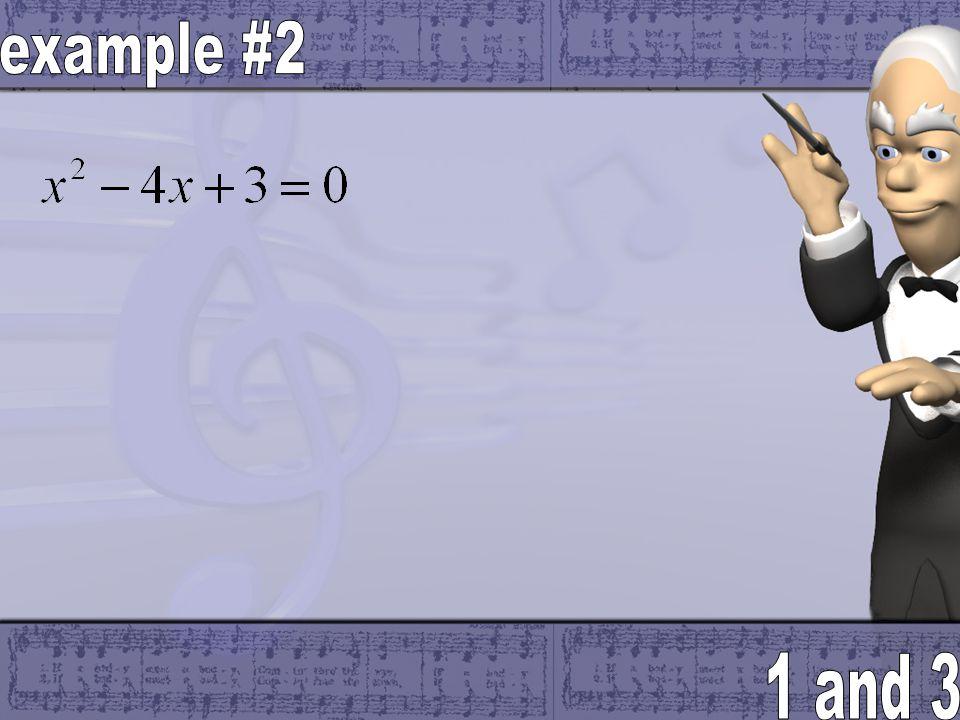 Ex: 1 Solve x 2 + 9x +14 = 0 a = b = c = 1 st 2 nd