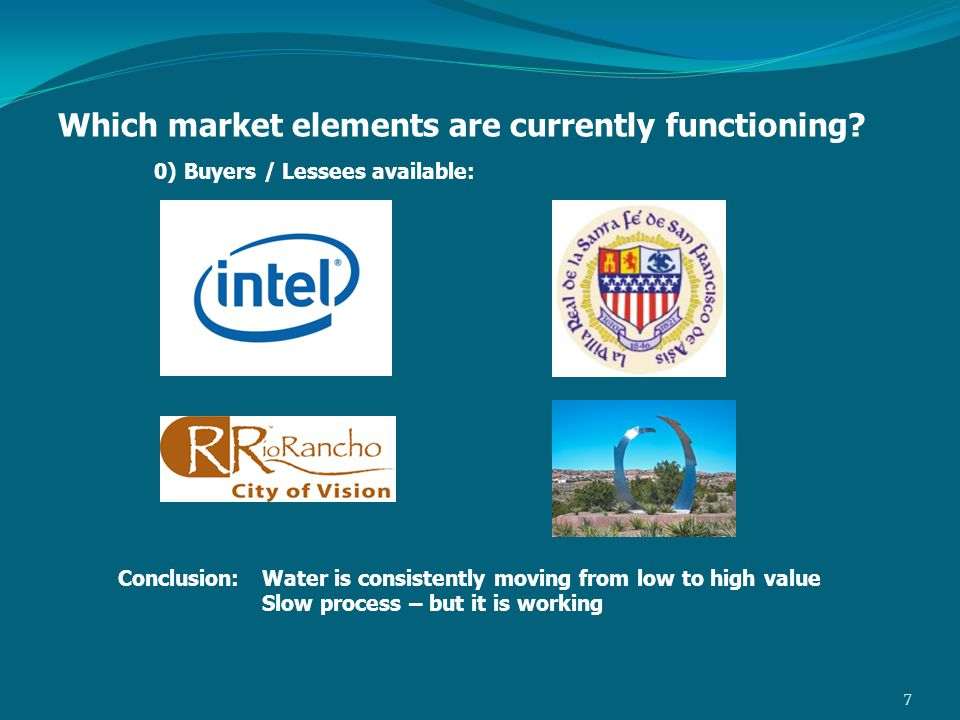 Which market elements are currently functioning.