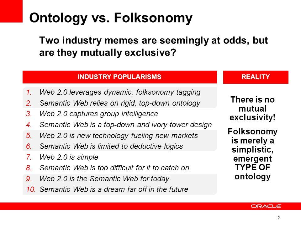 2 Ontology vs.