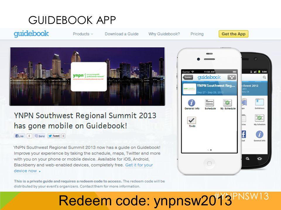 #YNPNSW13 GUIDEBOOK APP Redeem code: ynpnsw2013