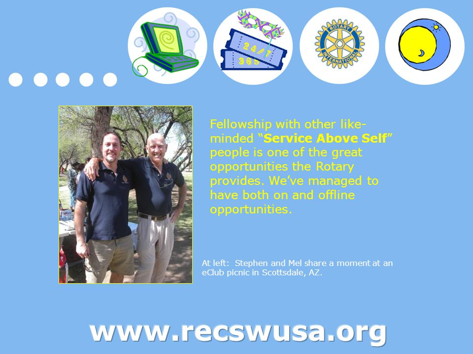 """Fellowship with other like- minded """"Service Above Self"""" people is one of the great opportunities the Rotary provides. We've managed to have both on an"""