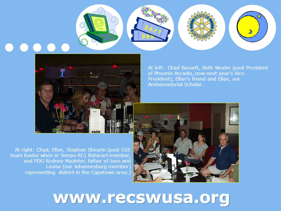 Unlike other Rotary clubs, our eClub has the freedom to offer 24-hour opportunities to both members of the club and visiting Rotarians.