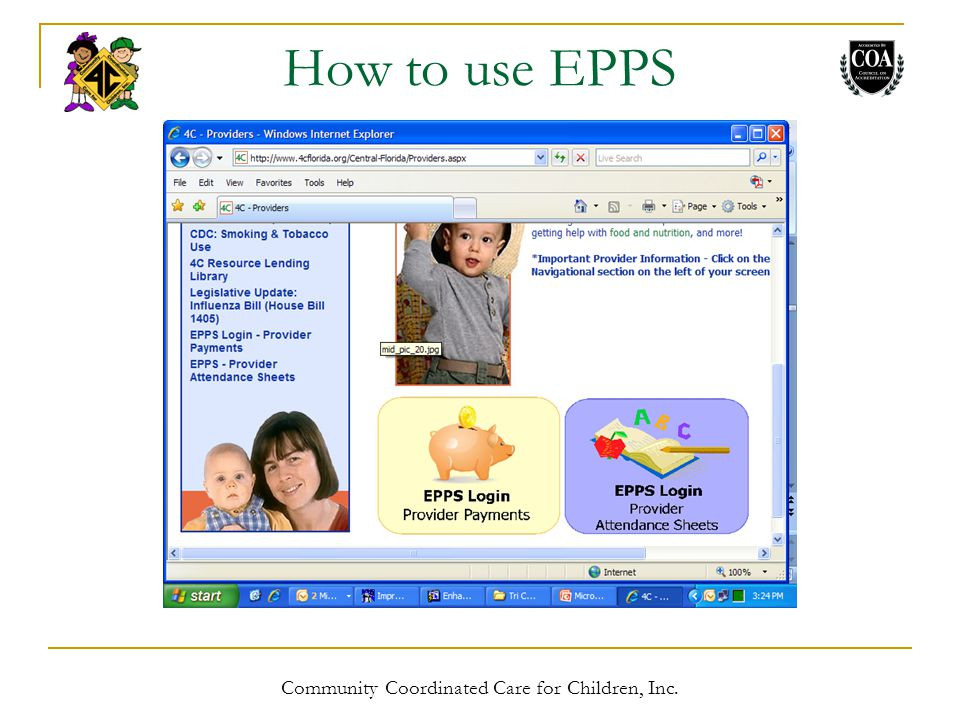 How to use EPPS Community Coordinated Care for Children, Inc.