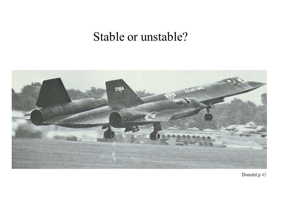 Stable or unstable? Drendel p 45