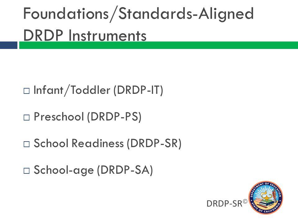 DRDP-SR © For More Information Peter L.Mangione, Ph.D.