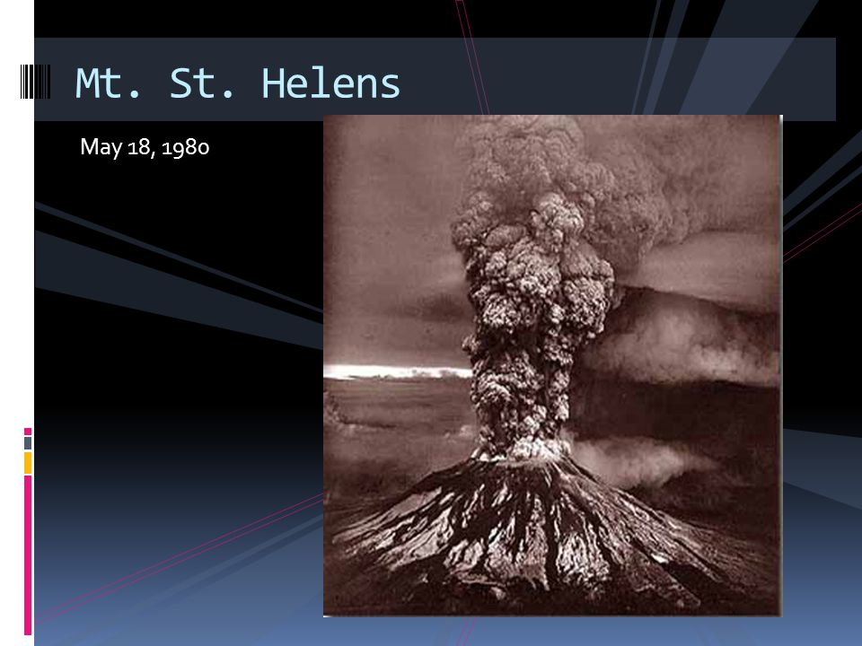 May 18, 1980 Mt. St. Helens