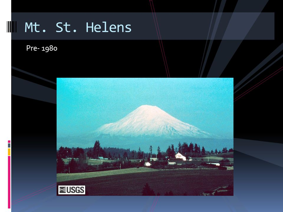March 20, 1980 Mt. St. Helens