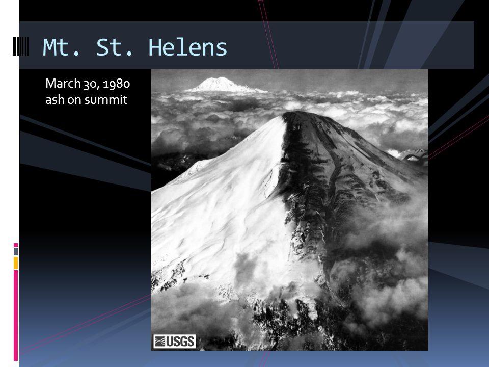 April 6 Steam blast Mt. St. Helens