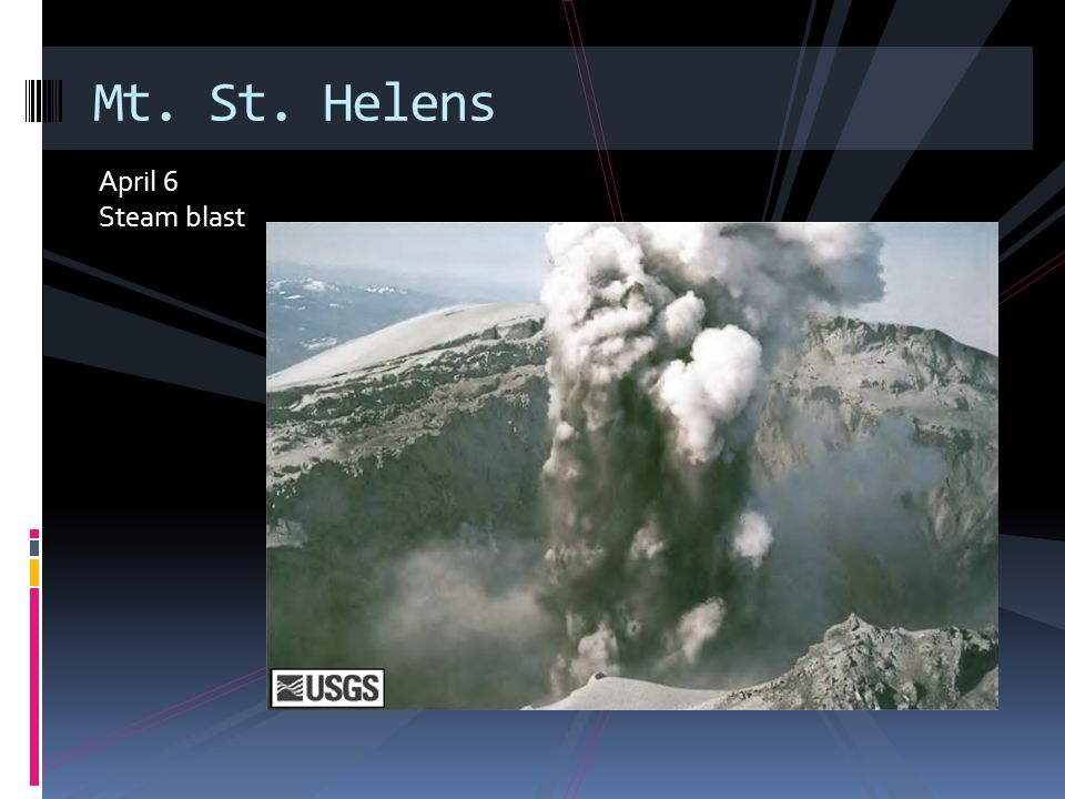 After – May 19 View of denuded slope and blowdown timber Mt. St. Helens